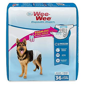 Four Paws Wee Wee Disposable Diapers Large - 36 count
