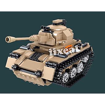 Czołg wojenny Pojazd taktyczny Bitwa główna Wojsko DIY Kreatywne czołgi Bloki konstrukcyjne Klocki