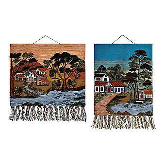 Hanging decoration DKD Home Decor Jute Cotton (2 pcs) (80 x 2 x 100 cm)