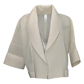 WynneLayers Women's Cropped Mesh & Neoprene Jacket White 758672