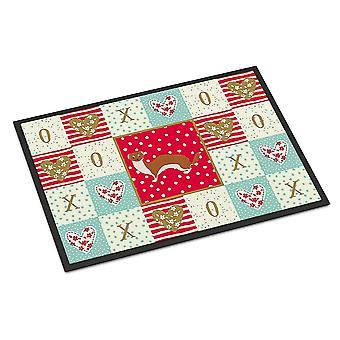 Door mats carolines treasures ck5297mat weasel love indoor or outdoor mat 18x27