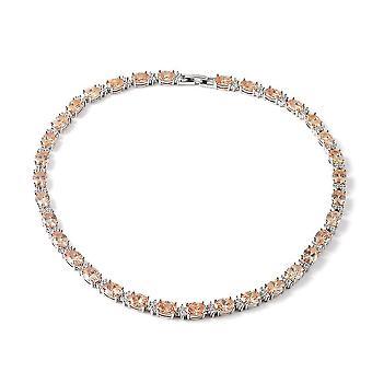 Tenisový náhrdelník pro ženy 16'' hnědý krychlový zirkonický dárek pro manželku / matku 46.24ct