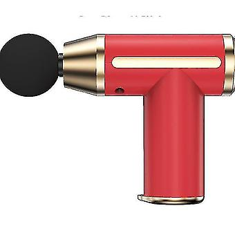 Faszienpistole Muskelentspannung Massagegerät Fitness Elektrische Stoßpistole Vibration Entspannung (Rot)
