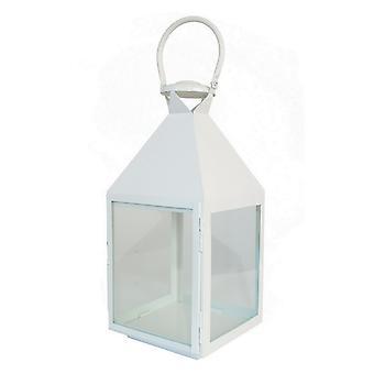 Plutus Brands Metal Decorative  Lantern in White Metal - PBTH93037