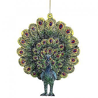 Gisela Graham Fantail Peacock Decoration