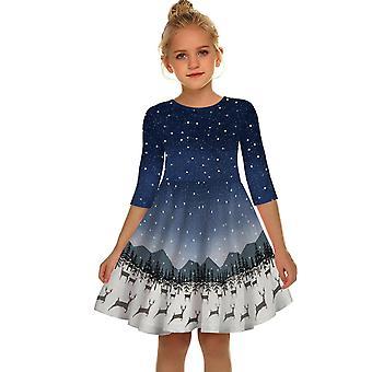 Christmas Dress Festival Outfit Girl Sleeveless Party Santa Dresses