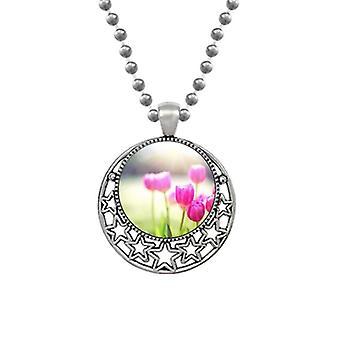 Beautiful Sunshine Flowers Red Green Necklaces Pendant Retro Moon Stars Jewelry