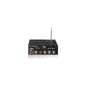 T1 2x25w Digital Bluetooth Stereo Forsterker Støtte Tf Fm Usb Mikrofon Eu 12v/220v