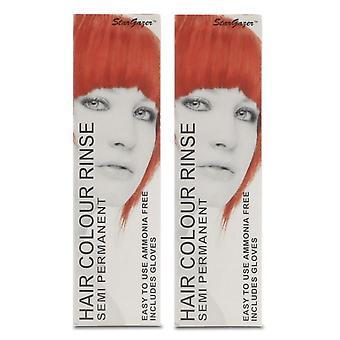 Stargazer Semi-Permanent Hair Colour Dye UV RED (2-Pack)