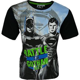 Boys Batman & Superman Short Sleeve T-Shirt