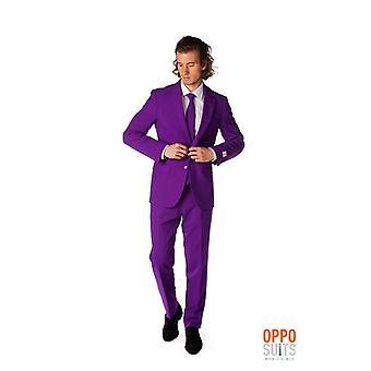 Purple Prince costume purple Mister purple Opposuit slimline Premium 3 pièces UE tailles