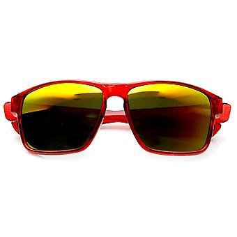 عمل الرياضة مرآة كبيرة لون معبد واسعة عدسة النظارات الشمسية