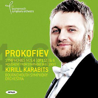 Prokofiev, S. / Karabits, Kirill - Symphonies 4 - Nos. 4 & 6 - Symphony in G (1902) [CD] USA import