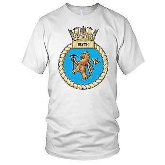 Royal Navy HMS Blyth Mens T Shirt