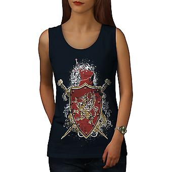 Shield Sword Art Women NavyTank Top | Wellcoda
