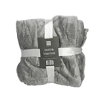 Country Club Foil Grey and Silver Blanket