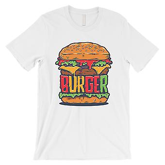 Juicy Burger Mens White Funny Graphic Cotton T-Shirt Gift For Him