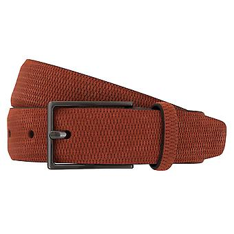 Strellson Gürtel Herrengürtel Ledergürtel Veloursleder Rot 2308
