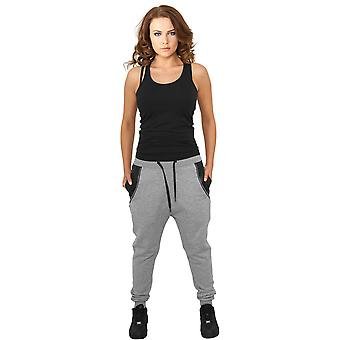 Urban Classics Damen Sweatpants Side Zip Leather Pocket