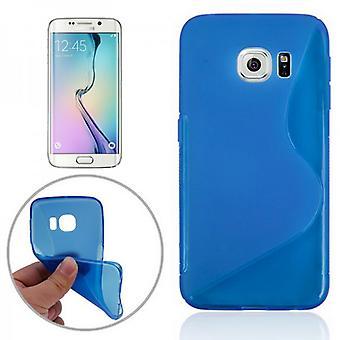 Silicona caso S-line azul para Samsung Galaxy S6 borde G925 G925F