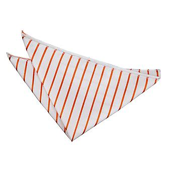 Wit & Oranje Single Stripe zak plein