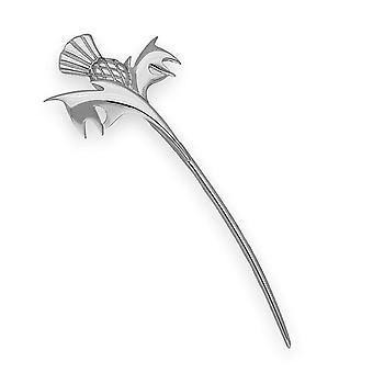 Sterling Silver tradițională armurariu floare de Scoția design Kiltpin-B536