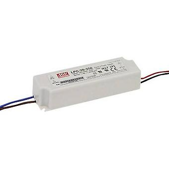 Mean Well LPC-20-350 LED driver Constant current 16.8 W 0.35 A 9 - 48 V DC not dimmable, Surge protection