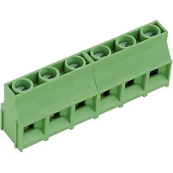 PTR AKZ841/6-9.52-V Screw terminal 4.00 mm² Number of pins 6 Green 1 pc(s)