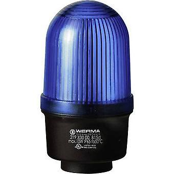 Werma Signaltechnik Light 219.500.00 219.500.00 Sinal de luz azul sem parar 12 V AC, 12 V DC, 24 V AC, 24 V DC, 48 V AC, 48 V DC, 110 V AC, 230 V AC