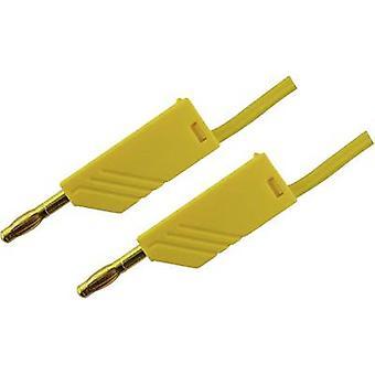 SKS Hirschmann MLN 100/2,5 GE Przewód testowy [Gniazdo bananowe 4 mm - Gniazdo bananowe 4 mm] 1,00 m Żółty 1 szt.