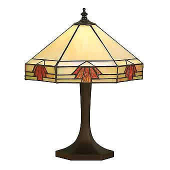Interiors 1900 Nevada Hex Stil Bernstein kleine orientalische Tiffany Lampe
