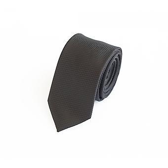 Nouer la cravate cravate cravate noir 6cm uni structure point Fabio Farini