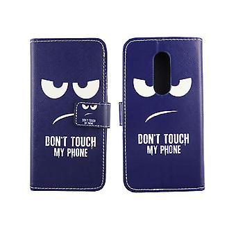 Handyhülle Tasche für Handy ZTE Axon 7 Dont Touch my Phone