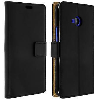 Slim Case, kääntää kirjan kansi, seistä lompakon tapaus HTC U11 Life - musta