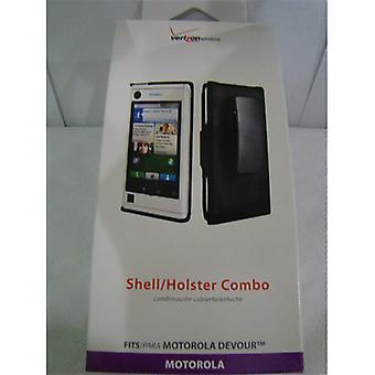 OEM Verizon Shell & Holster for Motorola Devour A555 - Black