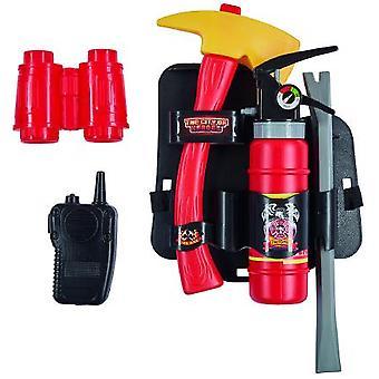 Feuerwehr Set Axt Feuerlöscher Walki-Talki Brechstange Fernglas Accessoire Karneval