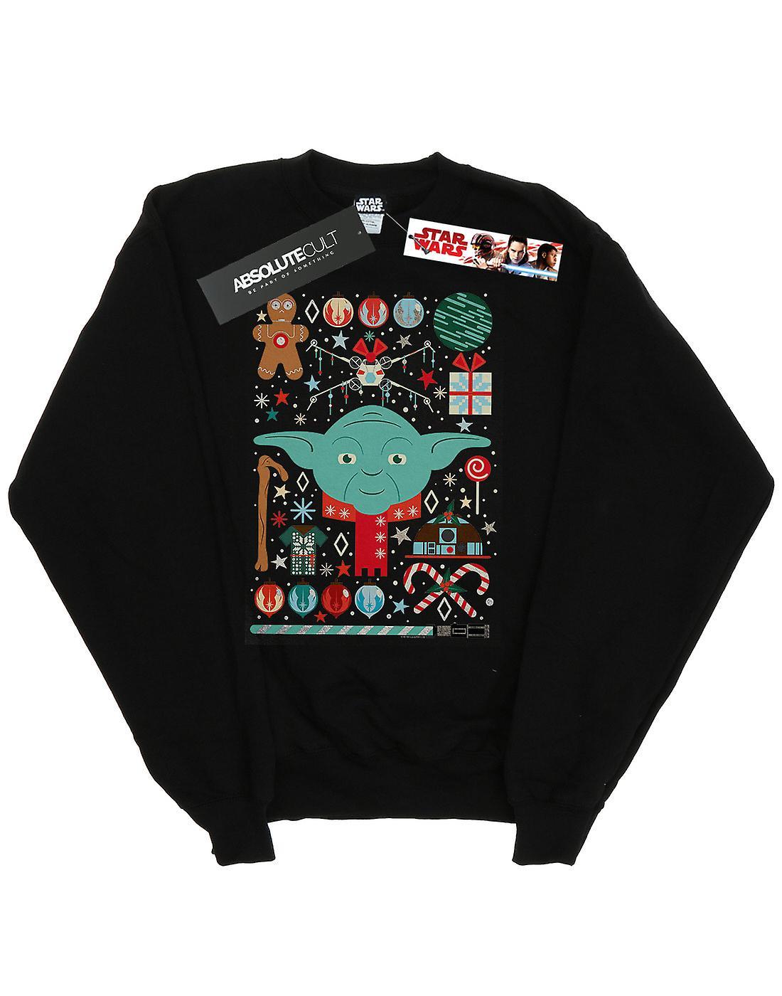 Star Wars Girls Yoda Christmas Sweatshirt