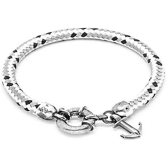 Anchor and Crew Salcombe Silver and Rope Bracelet - Grey Dash