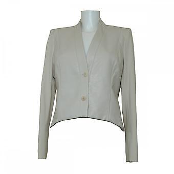 Isabel De Pedro Women's Leather Panel Structured Jacket