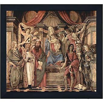 With frame St Barnabas Altarpiece, Sandro Botticelli, 60x50cm
