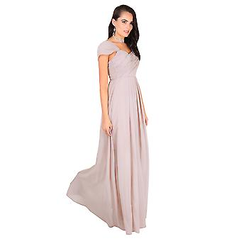 KRISP Femmes Diamante Fitted Long Fishtail Party Bridesmaid Wedding Maxi Prom Robe