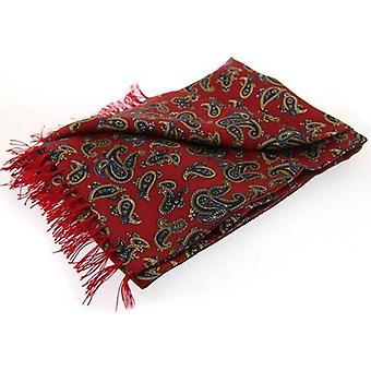David Van Hagen Paisley luksus mote silke skjerf - rød