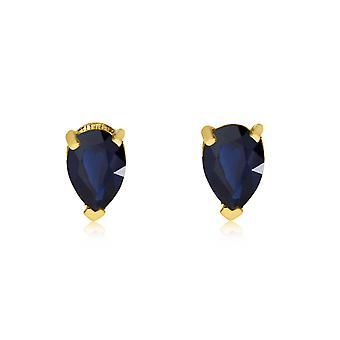 LXR 14k Gul Guld Safir Pæreformede øreringe 0,6ct
