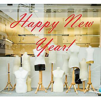 新年あけましておめでとうございますのウォール ステッカー