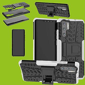 Huawei P30 Pro hybrid tilfelle 2 stykke Koczian utendørs hvit bag coveret beskyttelse