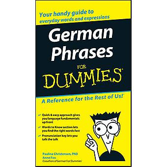 German Phrases For Dummies by Consumer Dummies - 9780764595530 Book