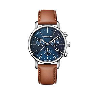 Wenger Unisex Quartz Watch with leather band 01.1743.104