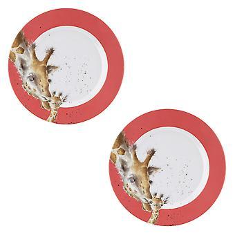 Wrendale Designs Giraffe Set of 2 Melamine Side Plates