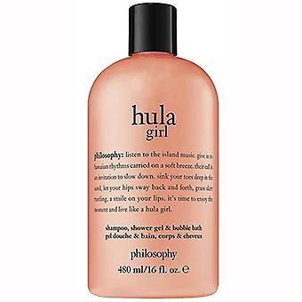 哲学 Hula 女孩洗发水, 淋浴凝胶, & 泡泡浴 16盎司 / 480毫升