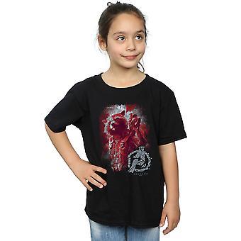 Marvel Avengers dziewczyny Endgame Rocket szczotkowane T-Shirt